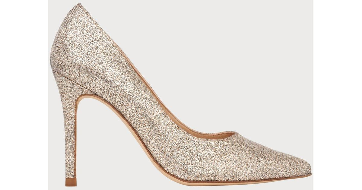 f7a8d21748a L.K.Bennett Fern Champagne Lurex Pointed Toe Courts - Lyst