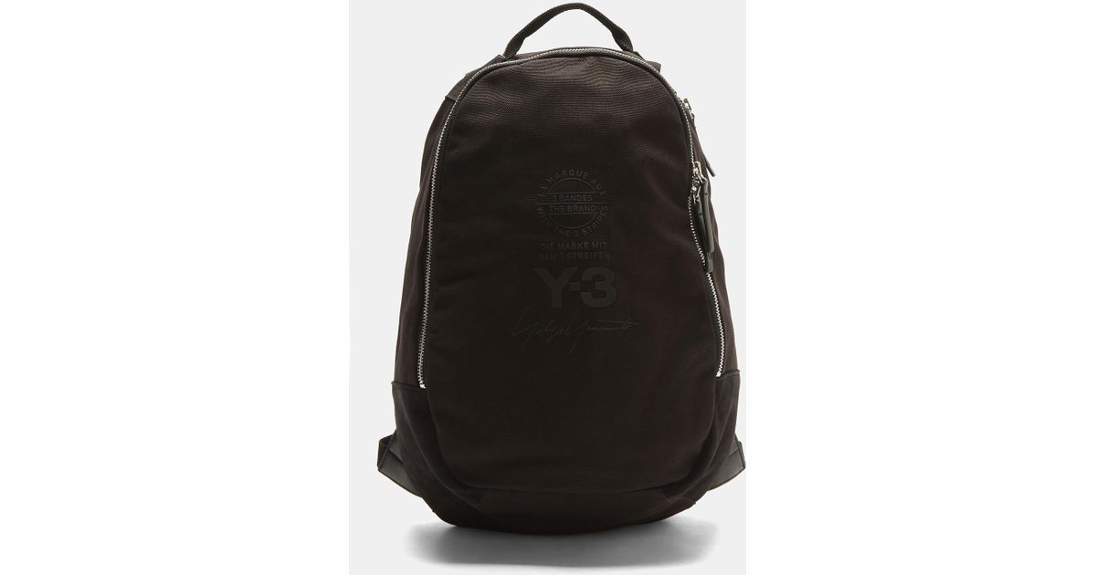 Lyst - Y-3 Logo Graphic Backpack In Black in Black for Men f09a006f15497