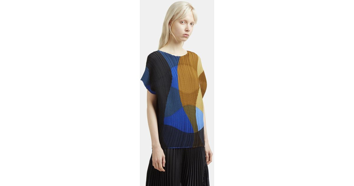 Leaf Transfer Boat Neck Top Issey Miyake The Cheapest Cheap Price Best Seller Cheap Online El0R7PFOOL