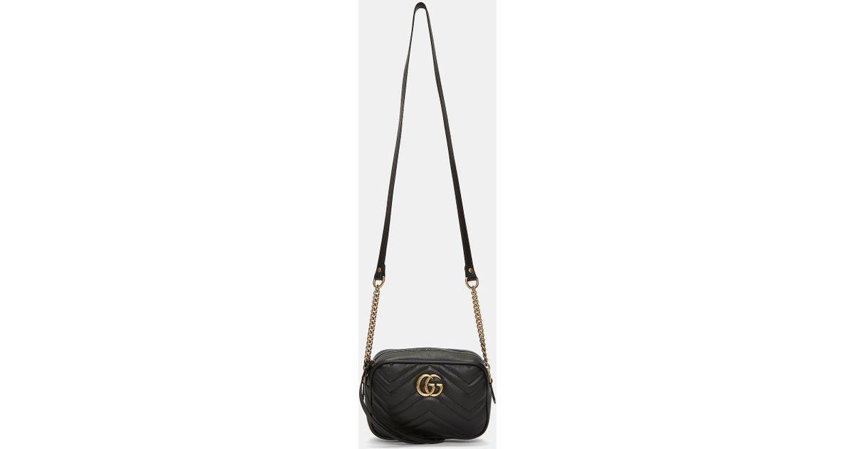 0552af82282f3 Lyst - Gucci Women s Gg Marmont Matelassé Mini Bag In Black in Black