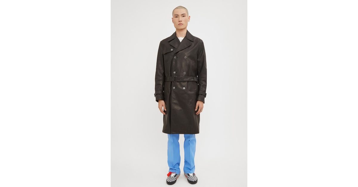 Logo White CO Off Leather Back Black Abloh In Trench Lyst Virgil XS1fwUXq