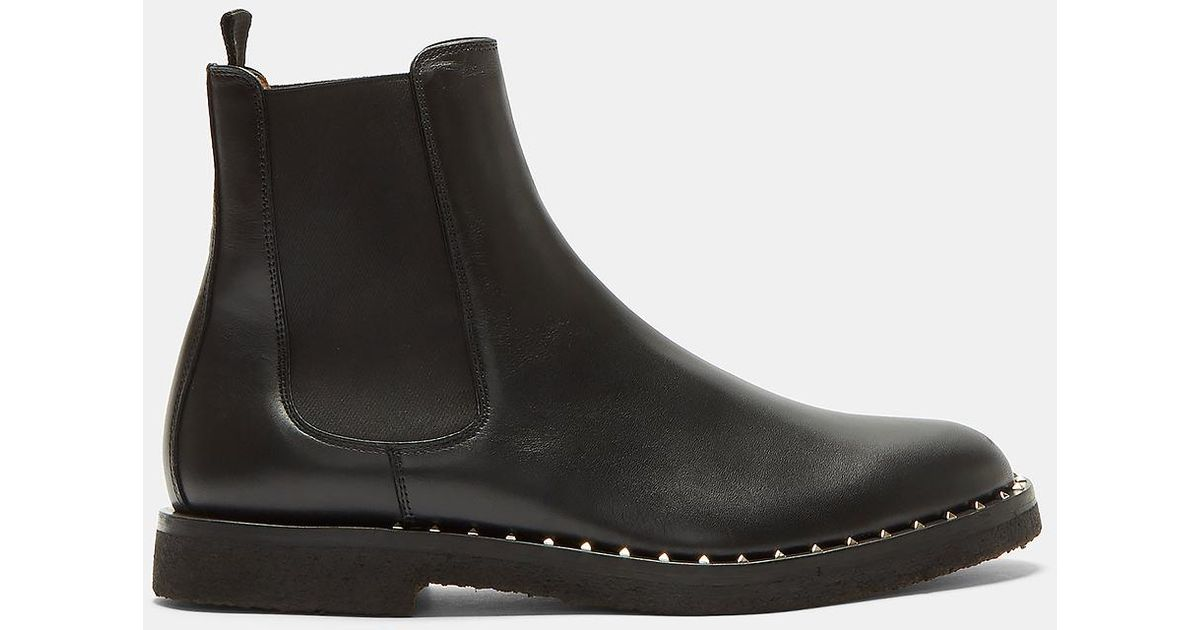 Lyst Valentino Pyramid Studded Chelsea Boots In Black In