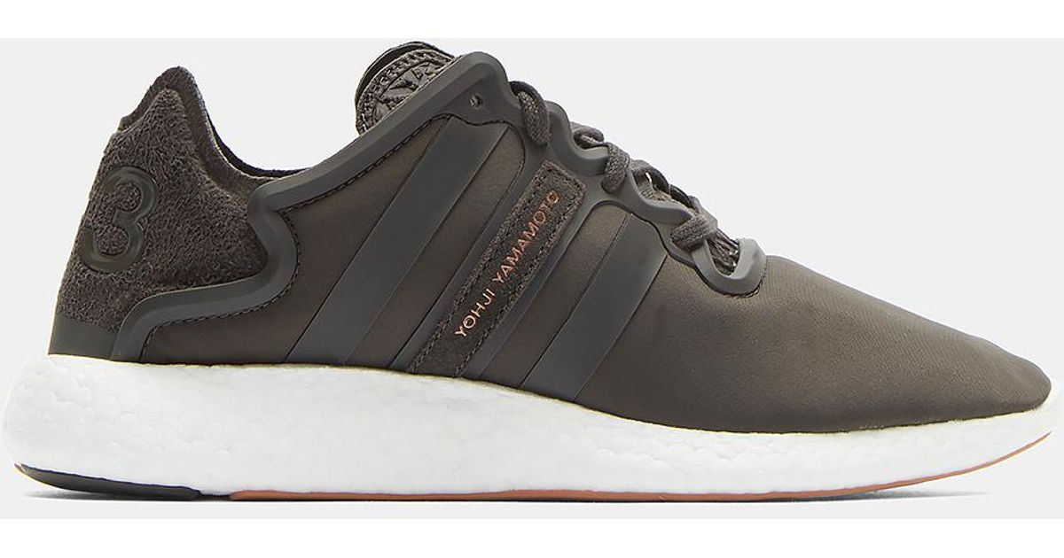 6617aac70 Y-3 Yohji Run Sneakers In Olive Green And White in Green for Men - Lyst