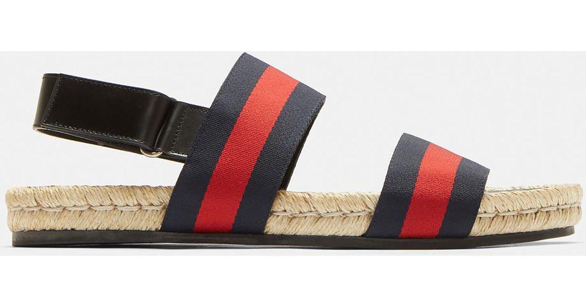 Web Stripe Jute Sandals Gucci EMViGDVqz9