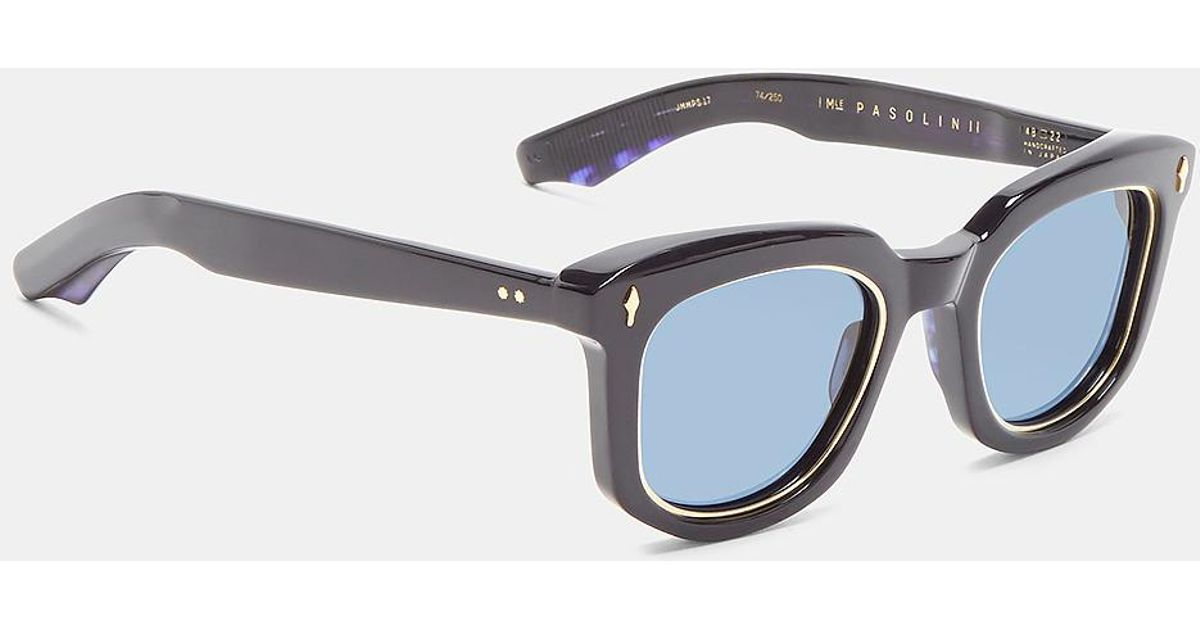 b1bb46a5687 Lyst - Jacques Marie Mage Men s Pasolini Wellington Sunglasses In Navy in  Blue for Men