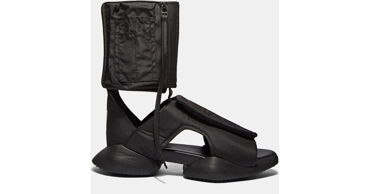 99d3b2c308c4 Rick Owens X Adidas Men s Strap Ro Cargo Sandals In Black in Black for Men  - Lyst