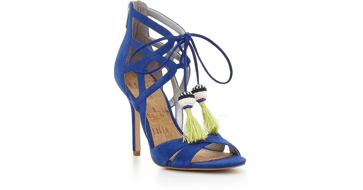 6d4dd8ea6 Lyst - Sam Edelman Azela Leather Sandals in Blue