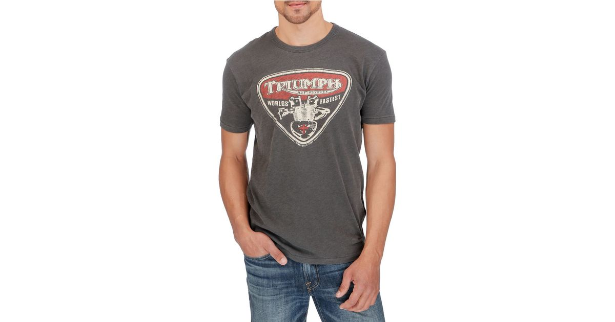 Lucky Brand Triumph Speed Twin T Shirt In Black For Men Lyst