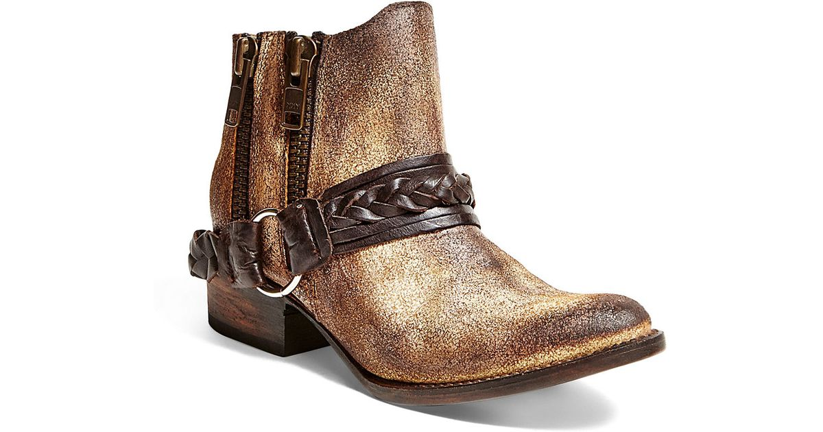 Freebird By Steven Clash Leather Ankle Boots In Brown Lyst