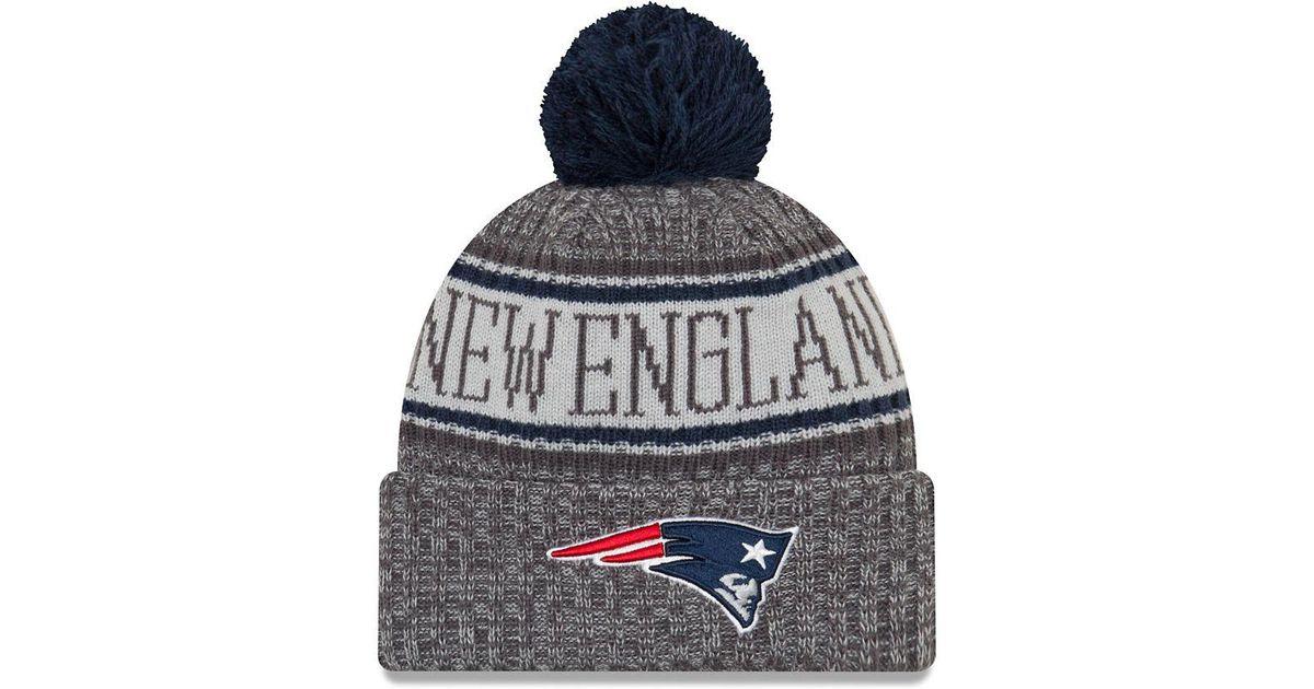 Ktz Nfl Sideline New England Patriots Cold Weather Sport Knit Hat in Blue  for Men - Lyst 77f95f7ec