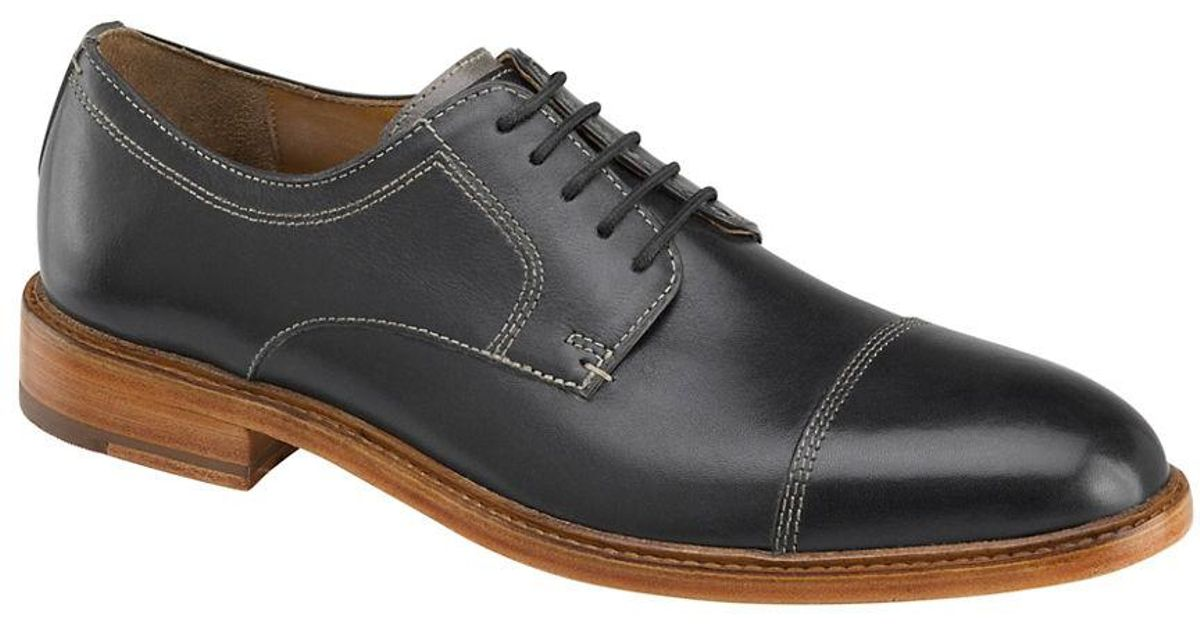 Johnston Amp Murphy Campbell Leather Cap Toe Oxfords In