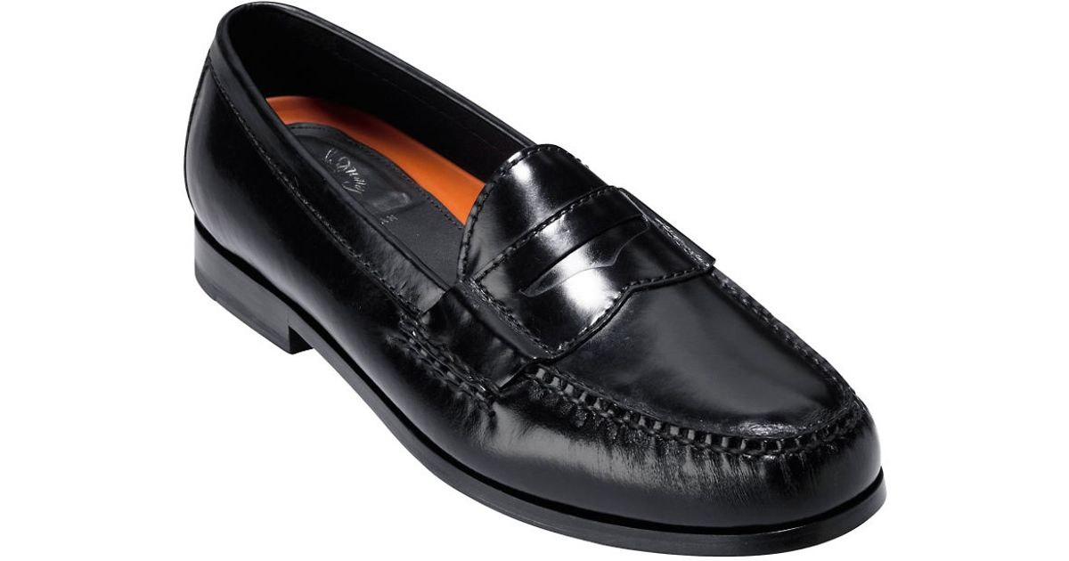 Cole haan Pinch Grand Penny Loafers in Black for Men | Lyst