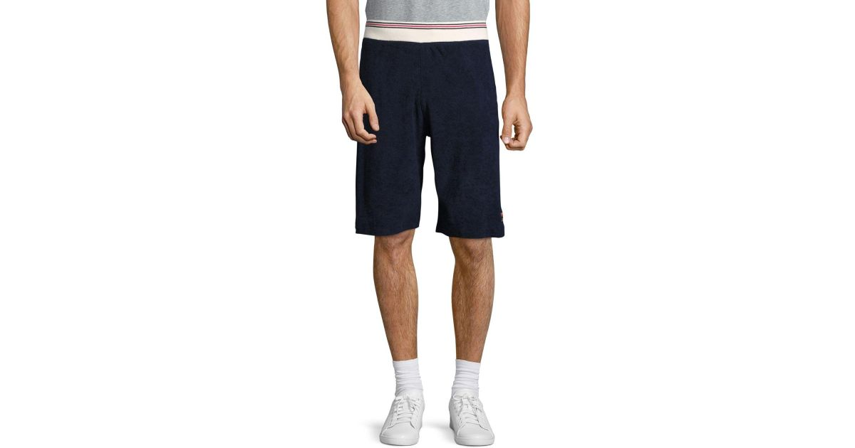 d240cd95a8361 Fila Terry Cloth Shorts in Blue for Men - Lyst