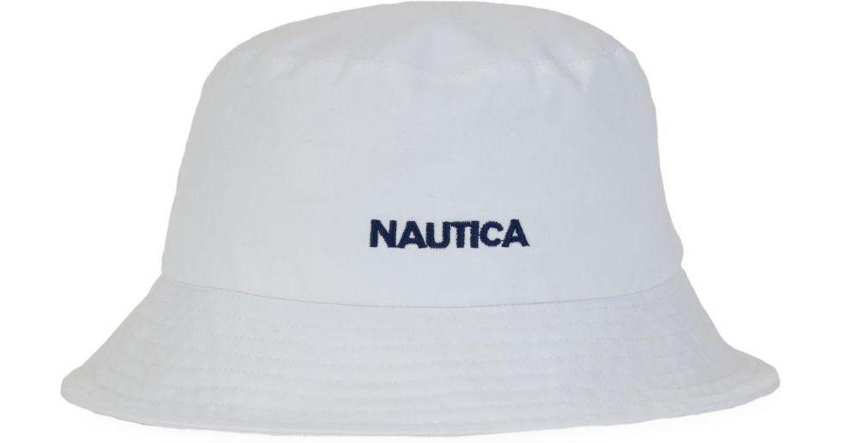 94e61b6e3bd98 Nautica Bucket Hat in White for Men - Lyst