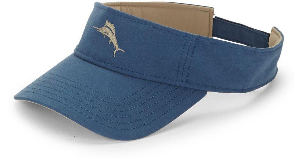 3cfc1514408fc Lyst - Tommy Bahama Embroidered Logo Visor in Blue for Men