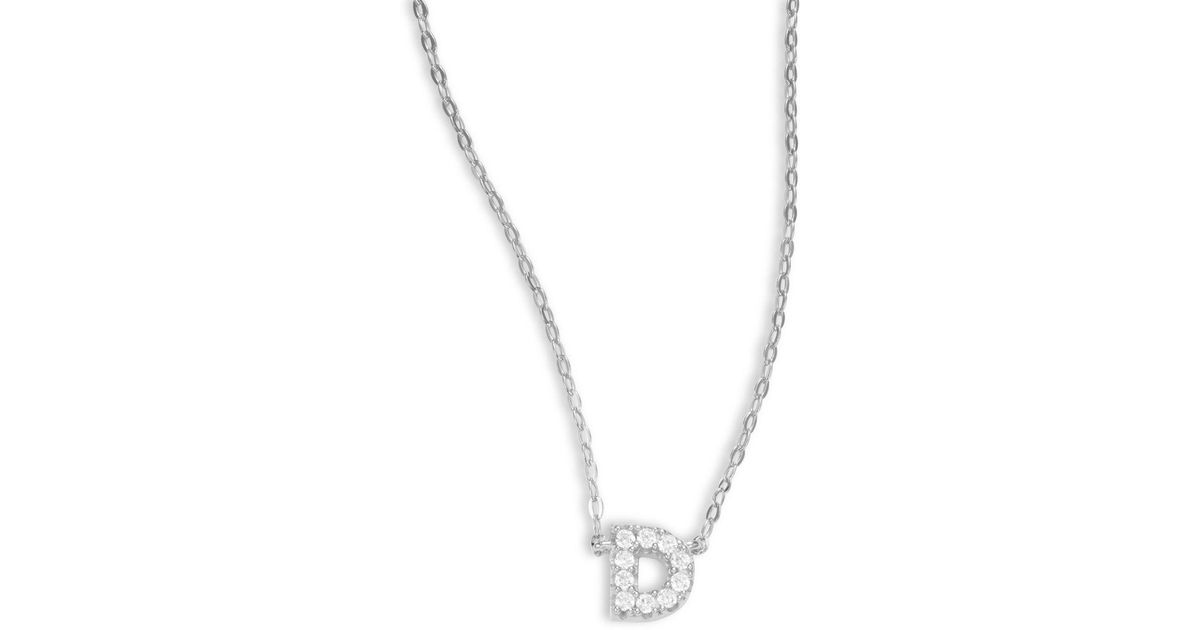 Lyst nadri sterling silver initial necklace in metallic aloadofball Choice Image