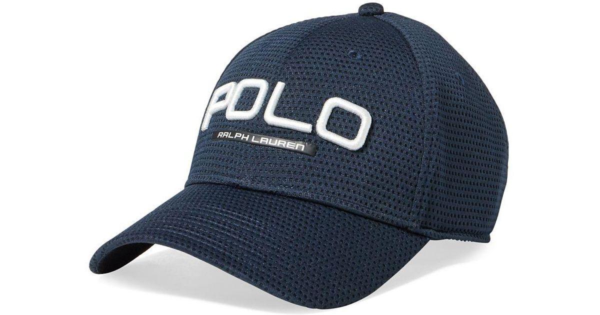 c11d20e468cff9 Polo Ralph Lauren Performance Mesh Cap in Blue for Men - Lyst