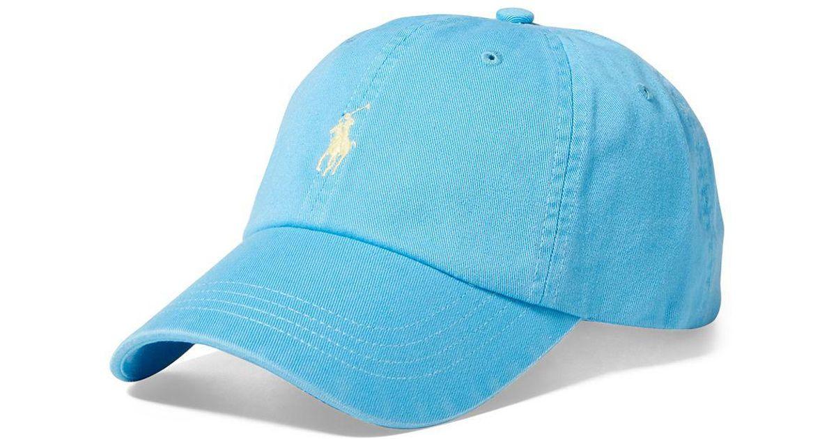 da9364f1cdcdf Polo Ralph Lauren Chino Baseball Cap in Blue for Men - Lyst