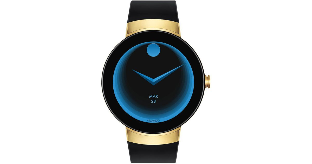 885743167 Movado Connect Silicone Strap Smartwatch in Black for Men - Lyst