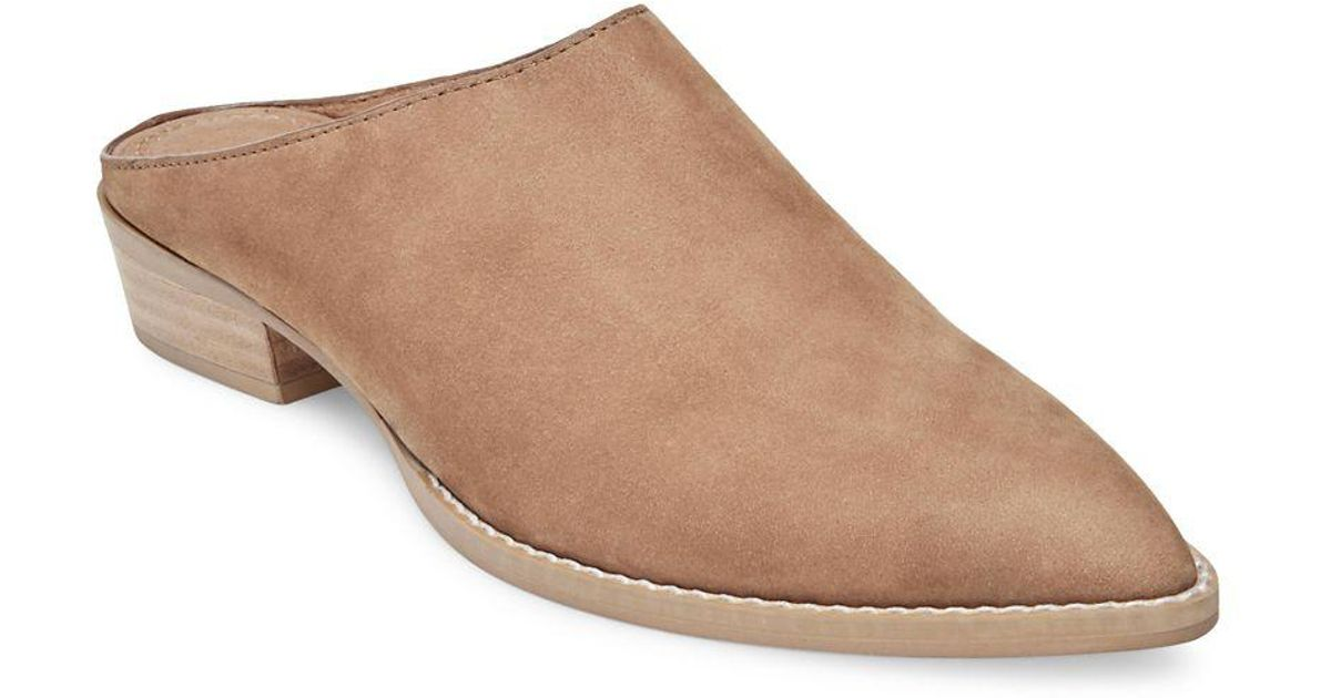 9354b29ab81 Steven by Steve Madden - Brown Andrew Nubuck Pointed Mules - Lyst
