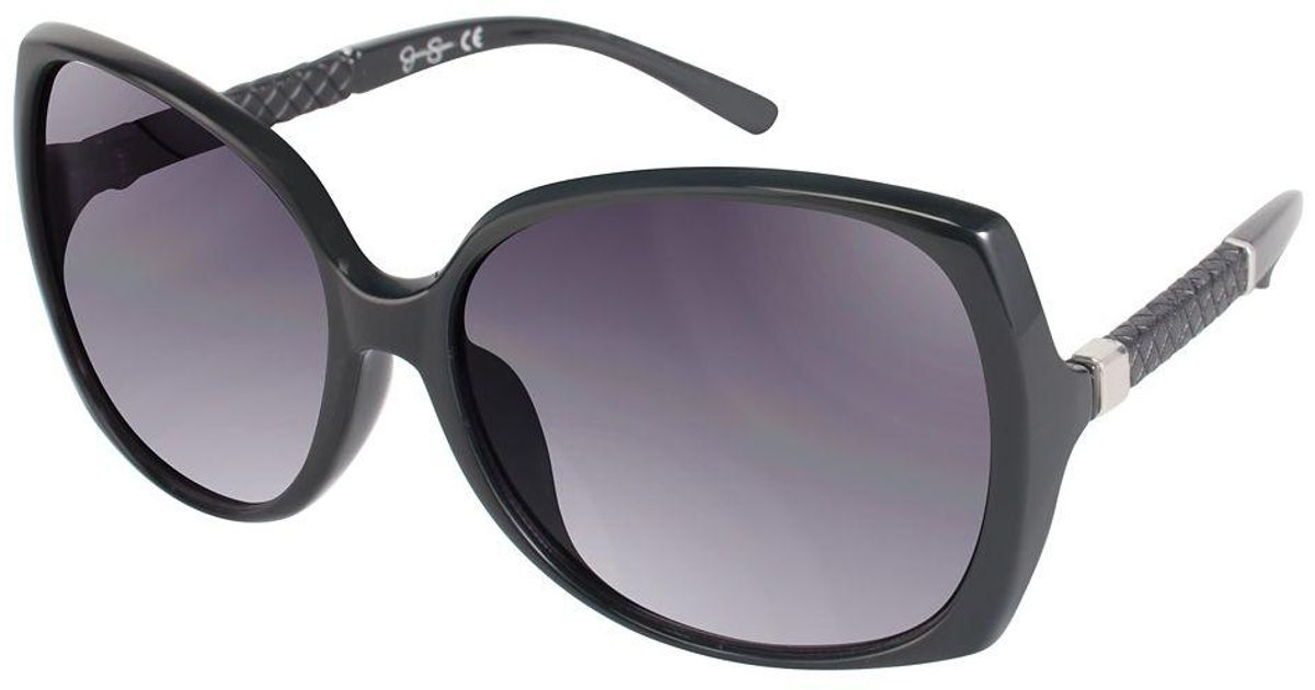 026389c7c440b Lyst - Jessica Simpson 60mm Glam Oversized Square Sunglasses in Black