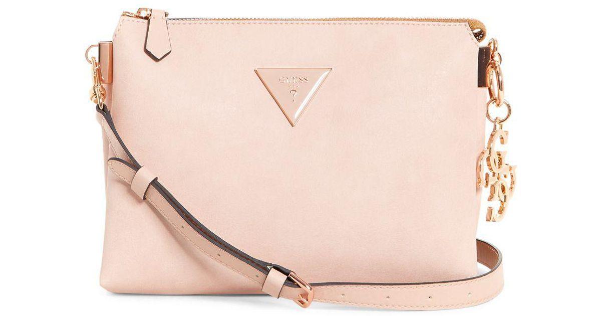 aa6edfeb8c26 Guess Jade Crossbody Bag in Pink - Lyst