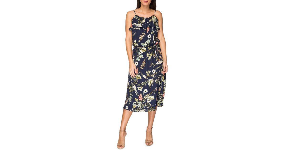 1dfef7b8ed Lyst - Bobeau Maya Printed Dress in Blue