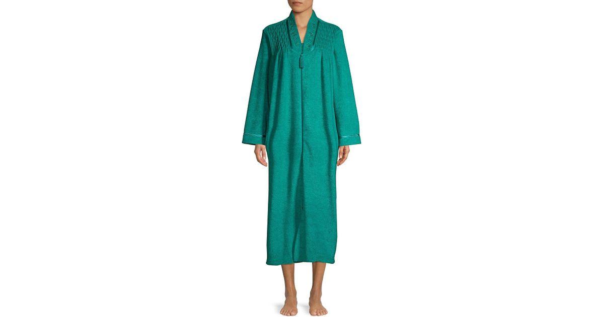 Miss Elaine Jade Long Sleep Gown in Blue - Lyst