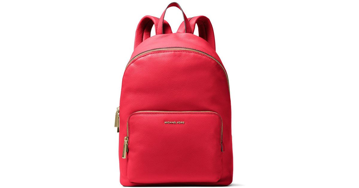 9d2e13d0bc4f MICHAEL Michael Kors Wythe Lg Leather Backpack in Red - Lyst
