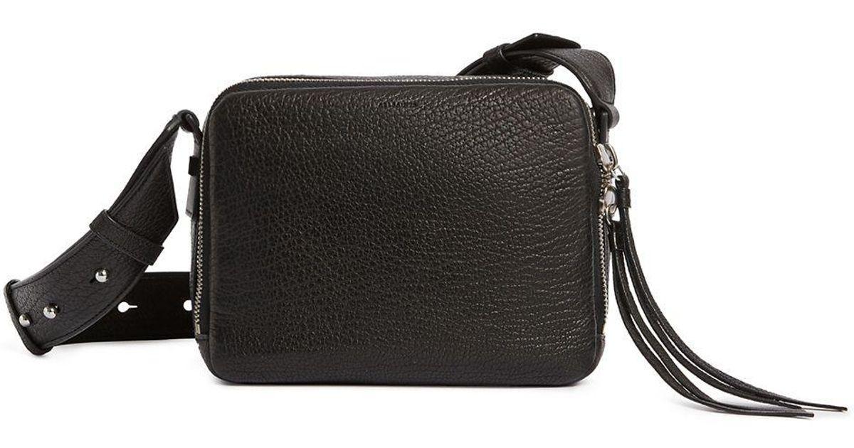 4620df2d60e1f AllSaints Vincent Leather Crossbody Bag - in Black - Lyst