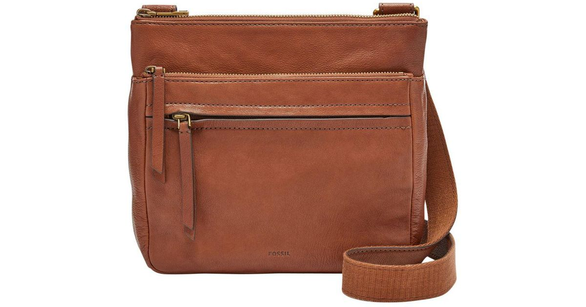 Lyst - Fossil Corey Leather Crossbody Bag in Brown 917470cfe2