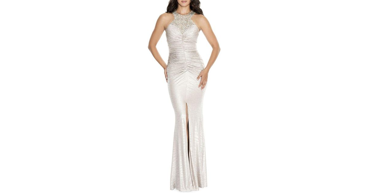 Lyst - Decode 1.8 Embellished Racerback Bodycon Gown
