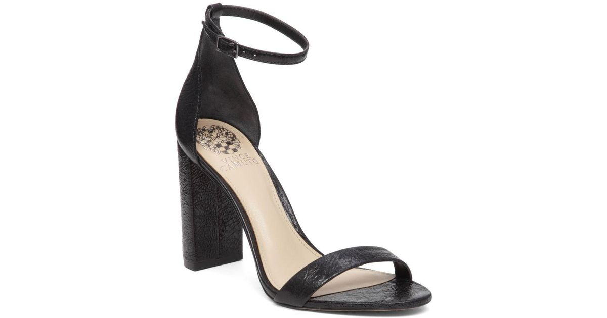 9e018d4c415 Lyst - Vince Camuto Mairana Leather Two-strap Dress Sandals in Black