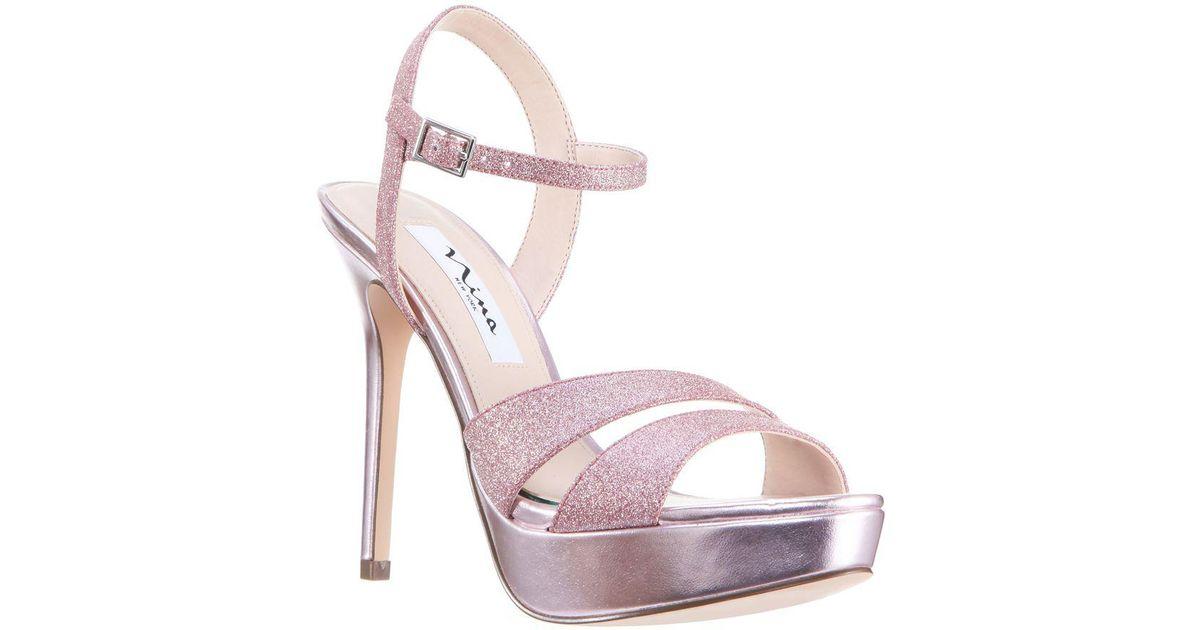 018ed5add1e Nina Silana Glitter Platform Sandals in Pink - Lyst