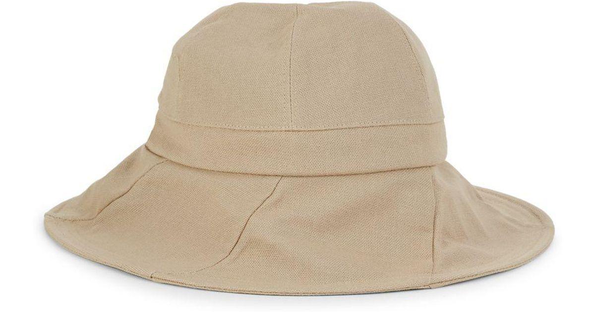 e6b58c8f0 Dorfman Pacific - Natural Women's Cotton Sun Hat - Lyst