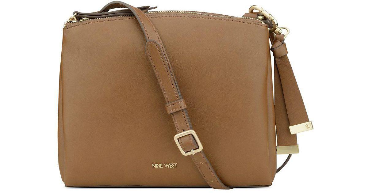 Nine West Brown Levona Crossbody Bag Lyst