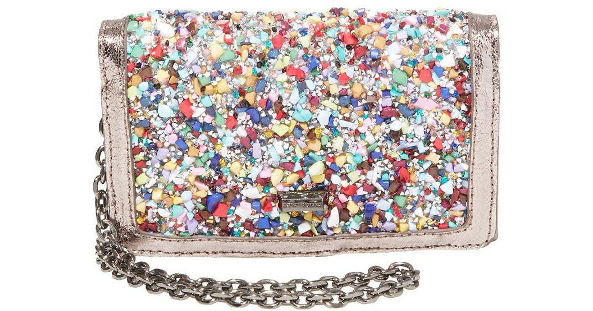 405017bca986 Betsey Johnson Metallic Rock On Embellished Crossbody Wallet
