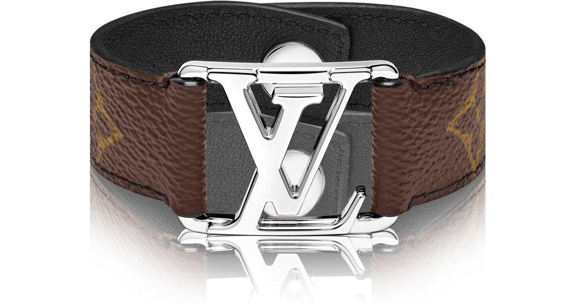 louis vuitton hockenheim bracelet in brown for men