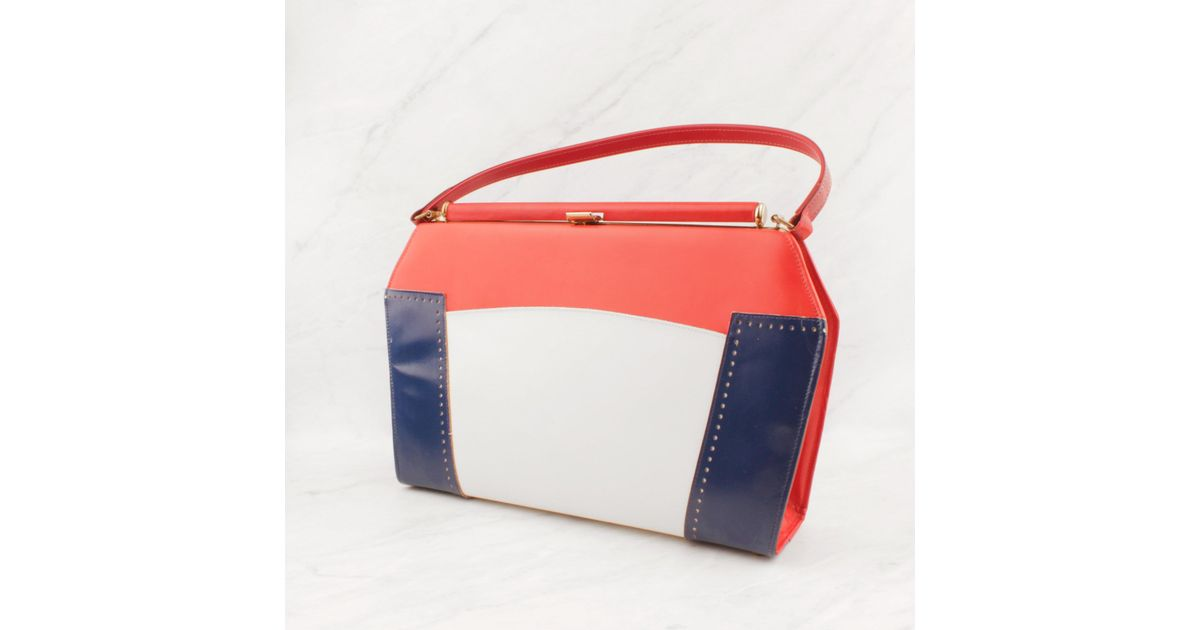 Lyst Lulu Frost Vintage Red White Blue Purse In Red