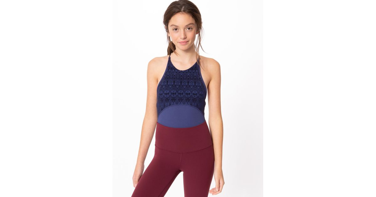 5f7f5bd4a Lyst - lululemon athletica Mesh With Grace Leotard  special Edition ...