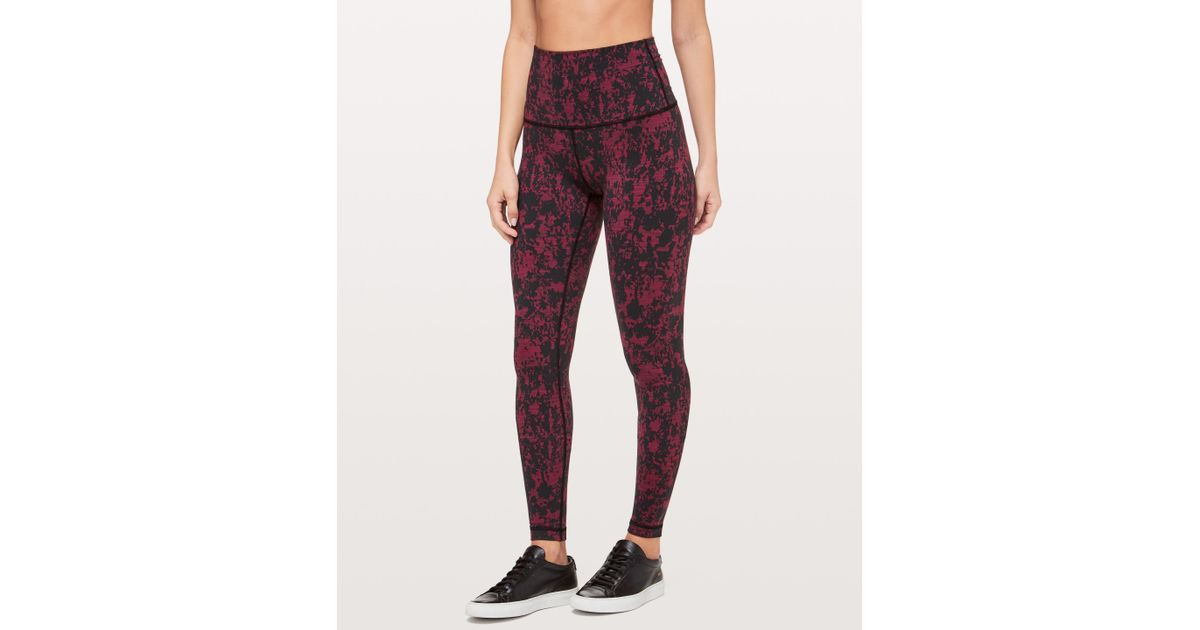 809df3960 Lyst - lululemon athletica Wunder Under Tight Super Hi-rise in Red