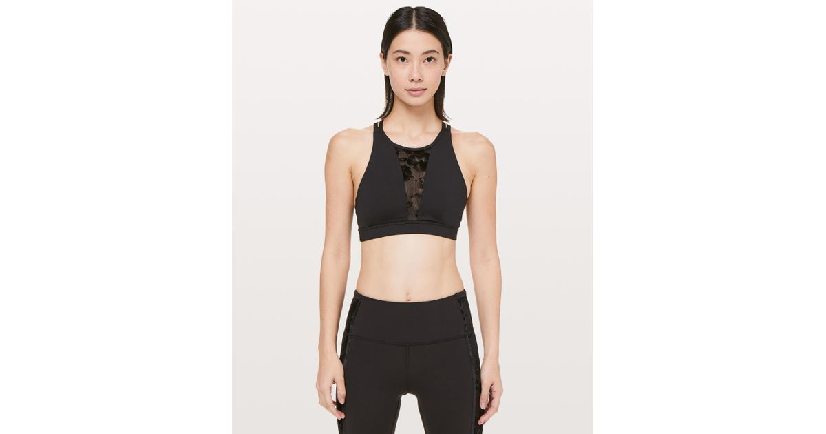 f2d0aadb01 Lyst - lululemon athletica Energy Bra in Black