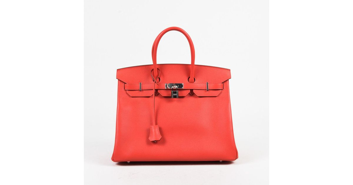 ... new zealand lyst hermès nib candy rose jaipur coral pink epsom leather  birkin 35cm bag in sale so rare hermes ... 81dce1fdf96ad
