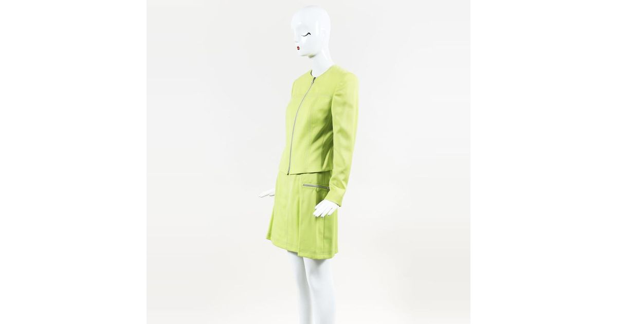 fc78e8c711 Gianni Versace Couture Vintage Lime Green Wool Jacket & Skirt Suit in Green  - Lyst