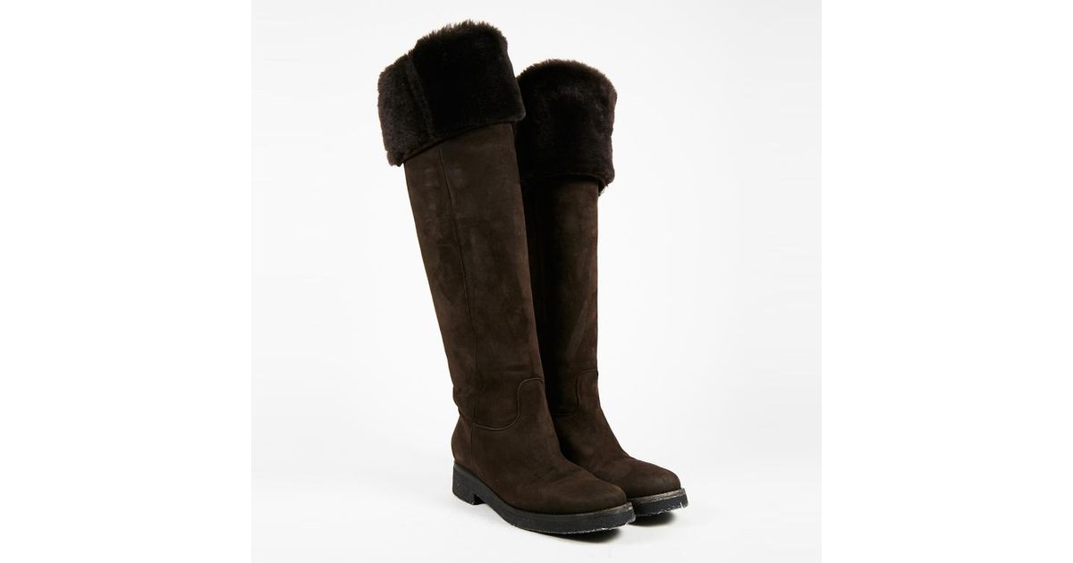 very cheap Loro Piana Shearling Knee-High Boots footlocker finishline cheap price cheapest price for sale get authentic for sale clearance finishline 05xEc