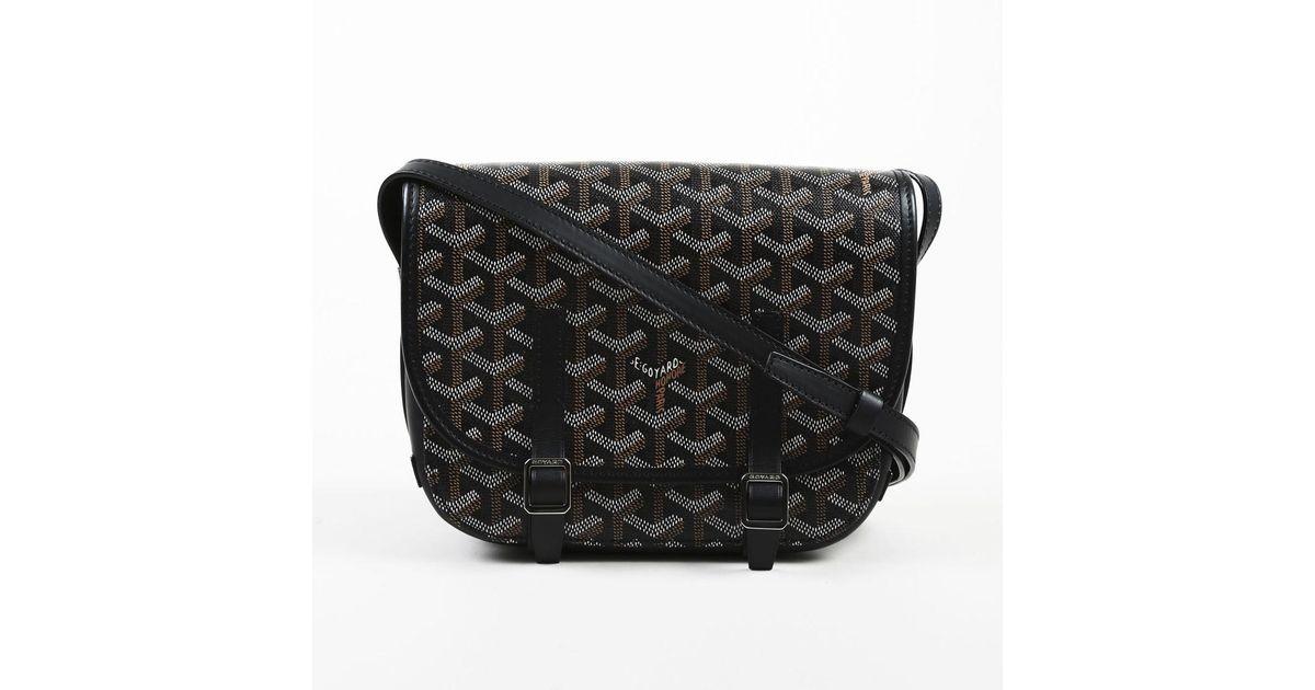 Lyst Goyard Black Multicolor Coated Canvas Belvedere Pm Crossbody Bag In