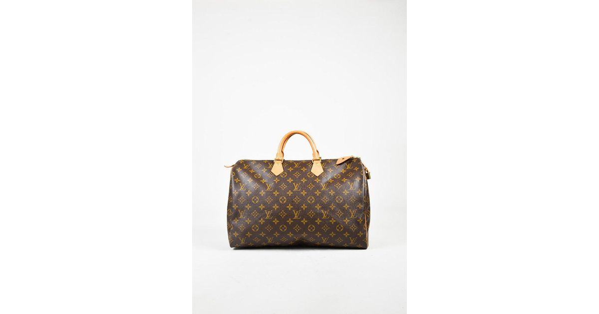 7b6bba6c524a Lyst - Louis Vuitton Brown Monogram Coated Canvas