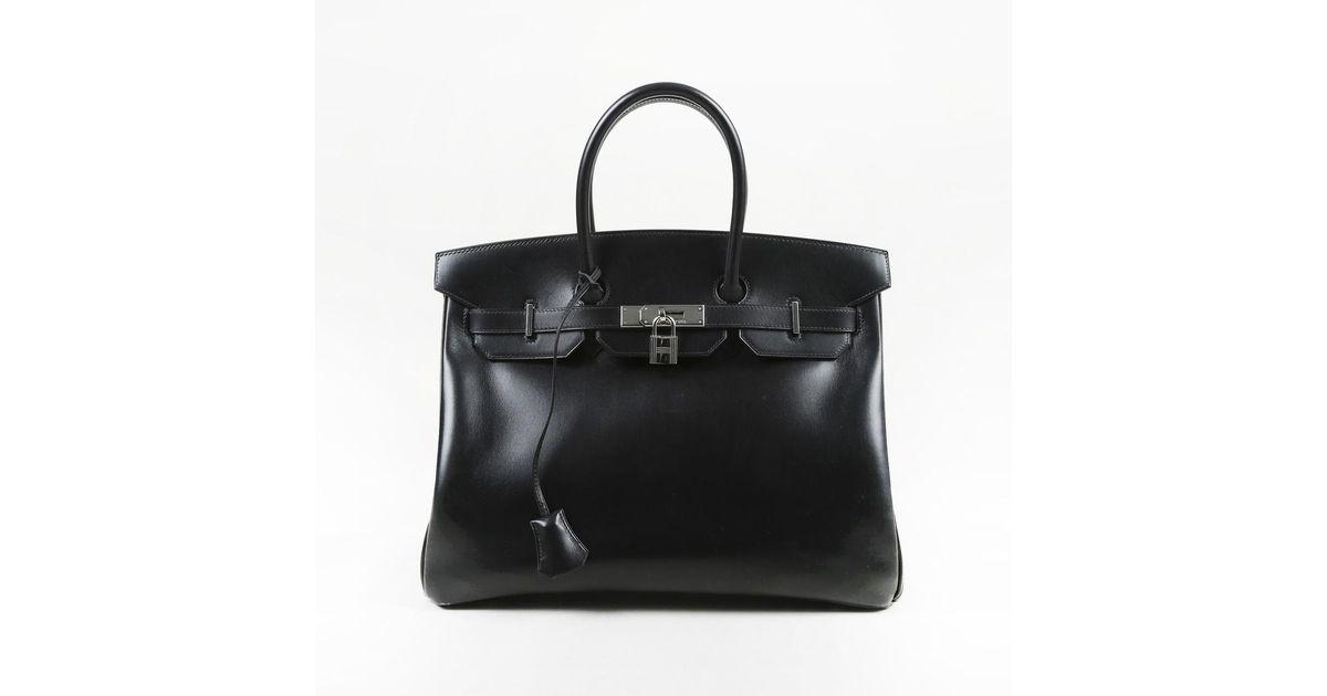 d3df07b9c888 Lyst - Hermès Box Calf Leather