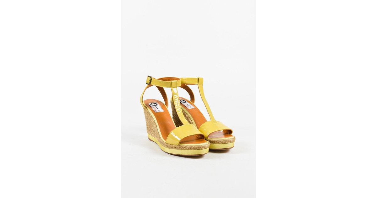 cheap sale with credit card Lanvin Wrap-Around Espadrille Wedges latest collections cheap price 9x21w