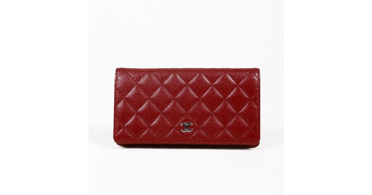 Lyst - Chanel Red Quilted \'caviar\' Leather